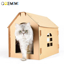 New Cat Paper house Foldable Design Indoor Bed For Cats Pet Puppy Dog Top Quality Tent Small Medium Dogs Pets Home