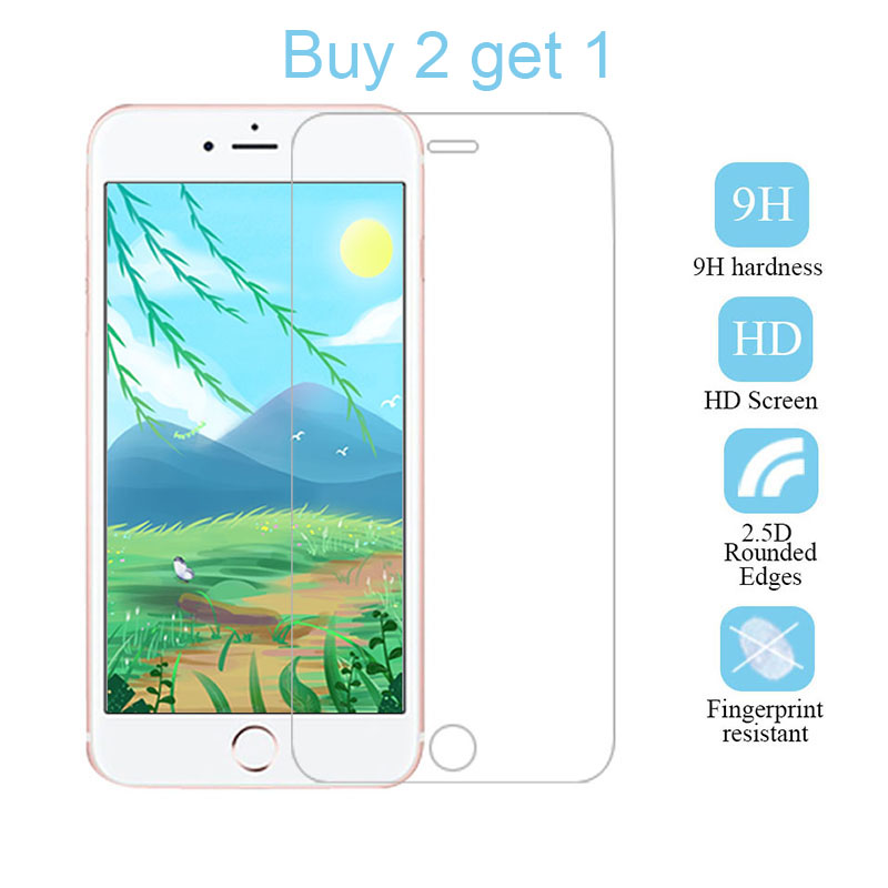 Buy 2 get 1 2.5D Tempered glass For iPhone7 8 6 6S Plus 5 5S 5C SE 9H screen coverage Toughened Glas For iPhone 7 6 6S image