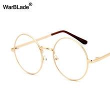 2a3421ed1a WarBLade Vintage Clear Lens Gold Round Metal Optical Men Women Eyeglass  Frame