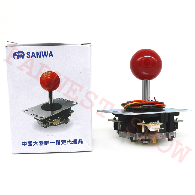 Japan Original Sanwa Joystick JLF-TP-8YT With Square Restrictor Fighting Rocker And 5pin Cable For Jamma Arcade Game Parts