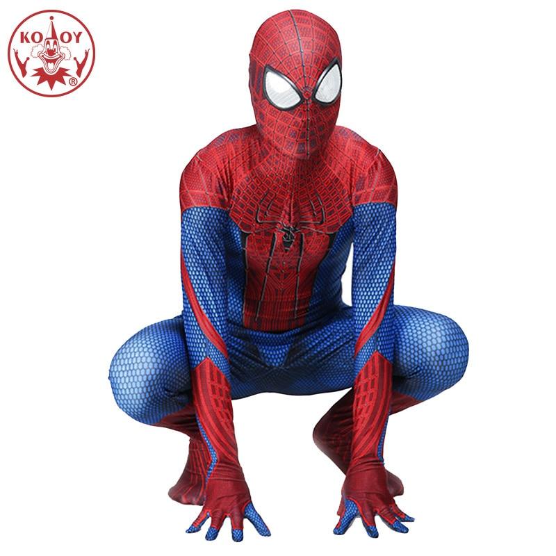 Spiderman Costume Zentai Superhero Bodysuit Suit Jumpsuits Spider Man Peter Benjamin Parker Halloween Spiderman Cosplay Costume