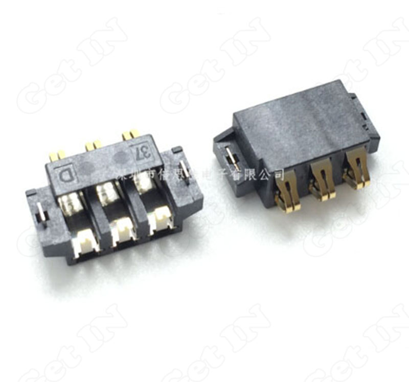 500pcs Battery Connectors Holder horizontal SMD 3Pins for Phone and Other Digital Product