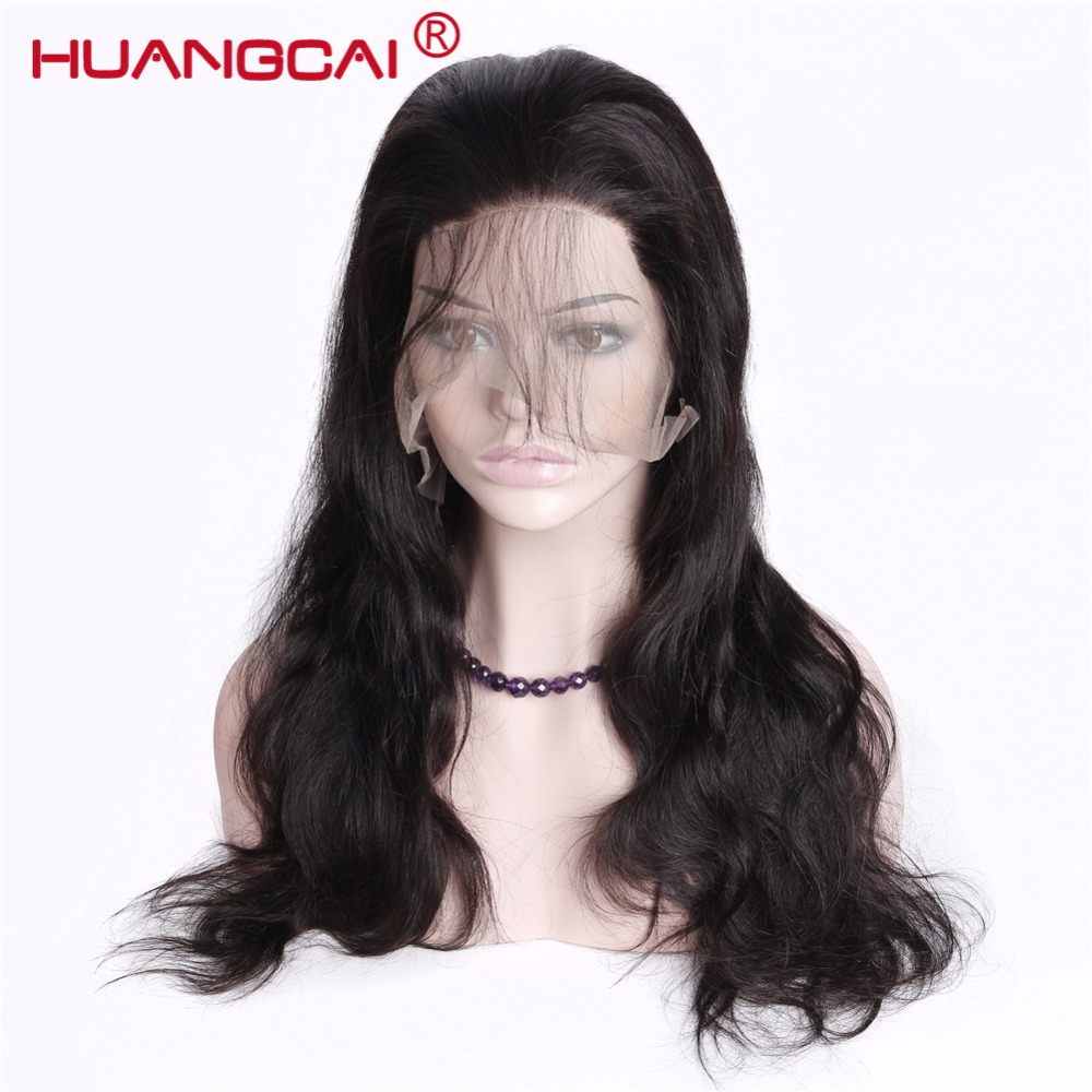 Peruvian Body Wave Glueless Full Lace Human Hair Wigs With Baby Hair 150% Density Natural Hairline Remy Hair Pre Pulcked Wigs