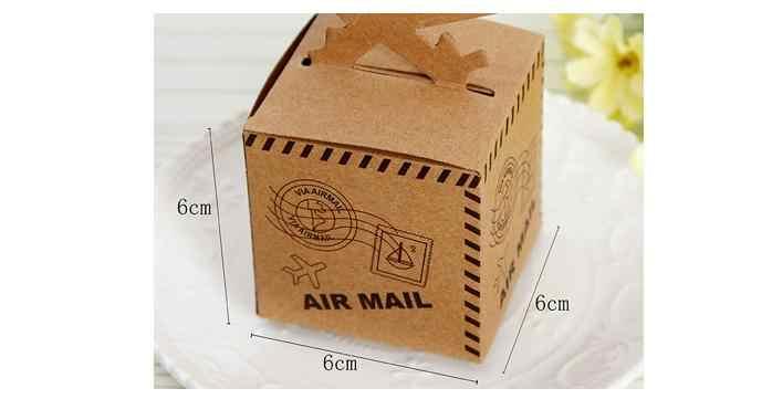 1000 шт./лот Federal Express быстро Бесплатная доставка Свадебные крафт-бумаги коробка конфет самолет коробка конфет авиационный самолет из крафт-бумаги подарочные коробки для конфет Коробки SN1027