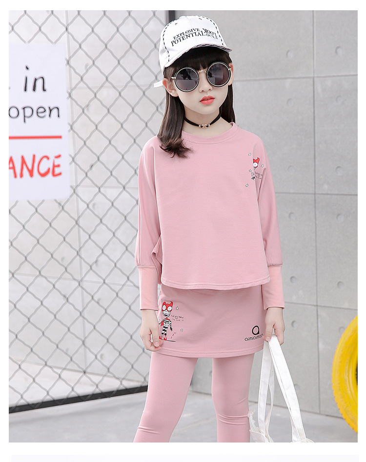 HTB14bSVSFXXXXapXXXXq6xXFXXXU - 2017 Baby Clothing Set Autumn Baby Girls Clothes Long Sleeve T-Shirt+Pants 2Pcs Suits Cartoon Children Spring Solid 6-15T O-Neck