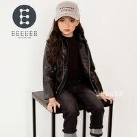 2017 New Brand Fashion Children S PU Leather Motorcycle Jacket Autumn Spring Kids Outwear Children Cool