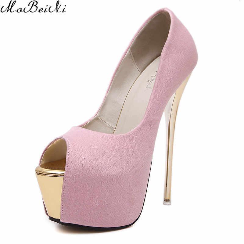 9cc4e0cc96b7 ... Hot Women 16cm Platform Stiletto Thin High Heels Sexy Open Toe Woman  Nightclub Pumps Shoes Fashion ...
