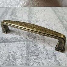 Bronze drawer cabinet handle pull antique brass dresser cupboard door handles 96mm antique bronze furnituer decoration