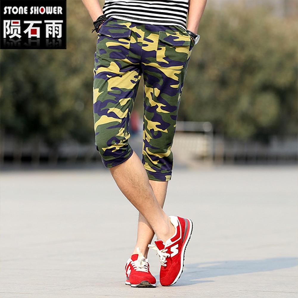 3d57ab98d Barato Hombres Pantalones Cortos de Camuflaje Militar Camuflaje Corto Homme  Masculinas de marca Junta Amry Pantalones Cortos en Casual Pantalones cortos  de ...
