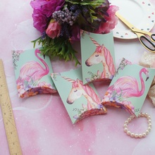 10pcs Mint Green Pink Unicorn Flamingo Candy Box Small Gift Cookie Sweet Packaging Wedding Favors Baby Shower Birthday DIY Use