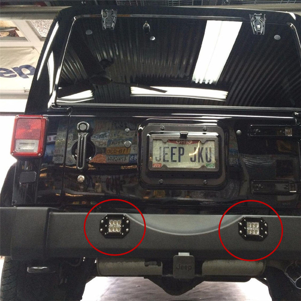 2pcs 18w Led Work Light Bar Fog Lamp For Offroad Suv Pickup Atv Utv Lights Wiring Harness Jeep Truck Trailer Tractor Rear Tail Backup Bumper In Car Assembly From