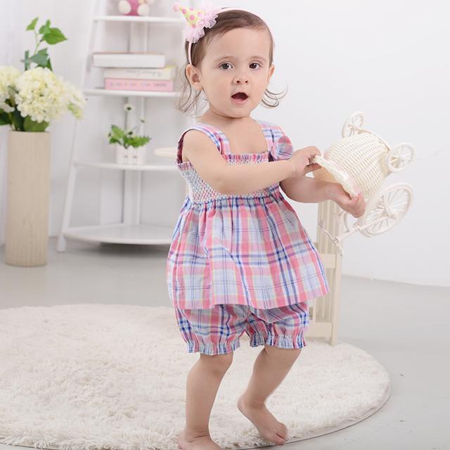 Regalo de pascua verano de algodón a rayas rodilla-longitud vestidos camis bow baby girl dress kawaii casa muchachas del desgaste de ropa para niñas