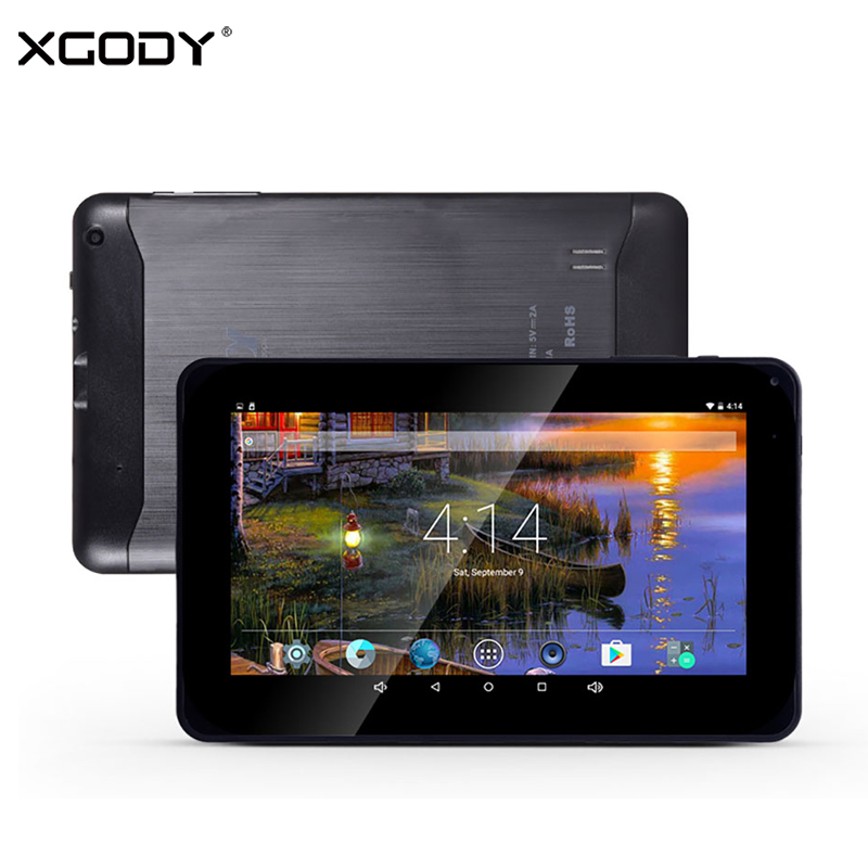 XGODY New T901 9 Inch Tablet PC Android 6.0 Quad Core 1GB 16GB 800*480 HD Dual Camera WiFi Bluetooth Tablets With 32GB TF Card