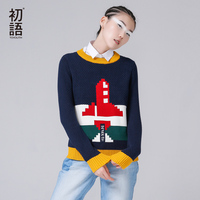Toyouth 2016 New Arrival Women Cotton Casual Printed Sweaters Autumn Pullovers O Neck Sweaters