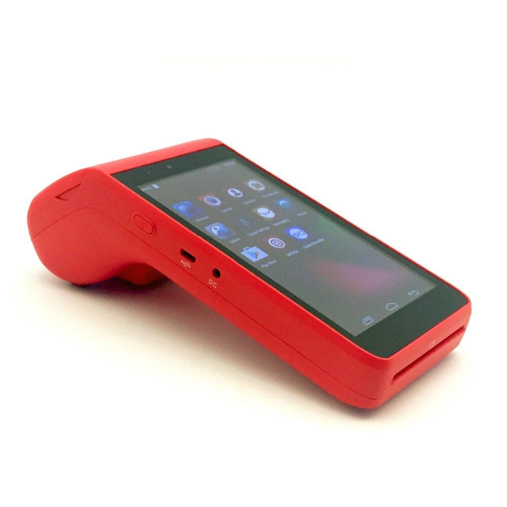 Tout en un ordinateur de poche 4G android POS terminal comprimé de crédit lecteur de carte mobile de détail POS machine avec 58mm imprimante 2 PSAM