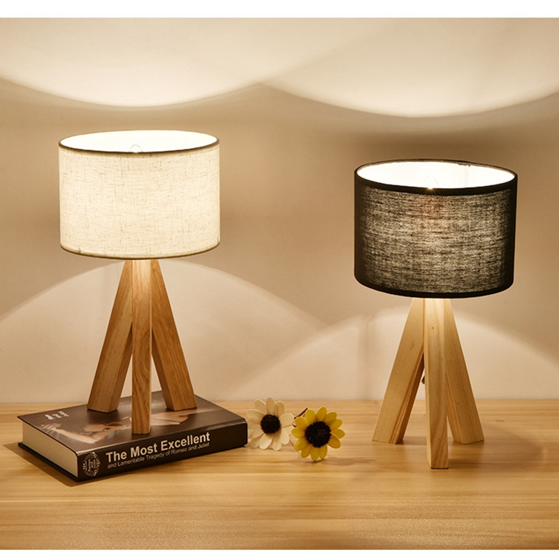Lights & Lighting Tuda 22x43cm Free Shipping Glass Table Lamp Cloth Lampshade Table Lamp Warm And Simple Design Personalized Creative Table Lamp