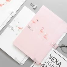Fresh Color Flamingo Expanding File Folder A4 Document Bag 8 Pocket Folder For Documents
