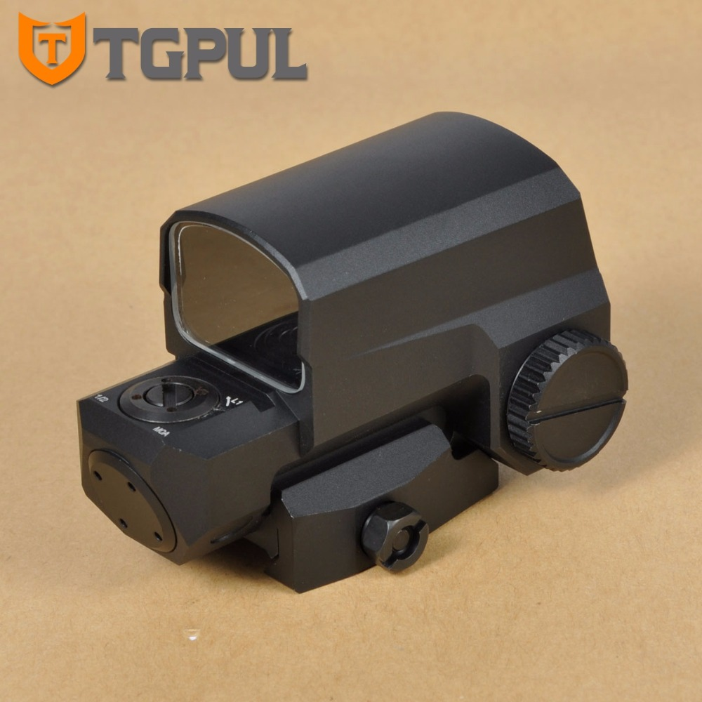 TGPUL LCO Red & Green Dot Sight Optical Hunting Aiming Scopes Holographic Tactical Weapons Riflescope Fit 20mm Rail Mount optical lens 556 black side holographic red