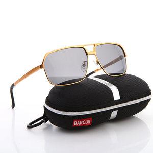 Image 5 - Barcur Aluminium Gepolariseerde Heren Zonnebril Spiegel Zonnebril Vierkante Goggle Eyewear Accessoires Voor Mannen Of Vrouwen Vrouwelijke