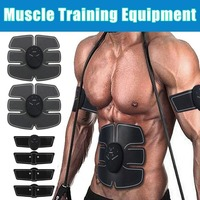 2018 Smart Abdominal Muscle Training Massager EMS Trainer Gear Equipment Arm Body Massage Slimming Exercise Fitness Stimulator