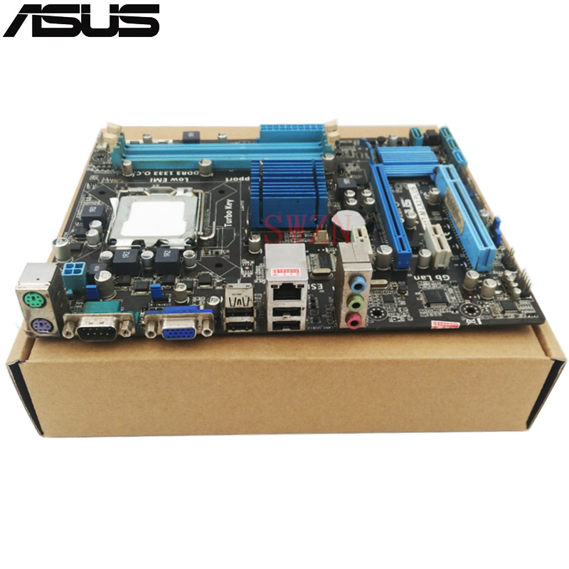 original Used Desktop motherboard For ASUS P5G41T-M LX3 Plus G41 support Socket LGA775 2*DDR3 support 8G 6*SATA2 uATX original motherboard for asus p5b deluxe lga775 ddr2 965board gigabit ethernet