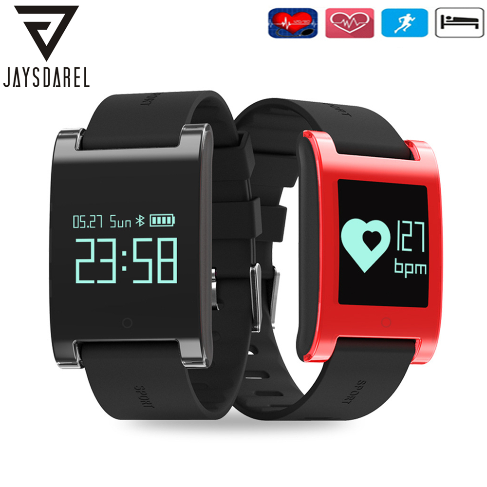 JAYSDAREL DM68 Healthy Blood Pressure Heart Rate Monitor Smartwatch OLED Screen Waterproof Smart Bracelet for Android iOS heart rate smart watch blood pressure monitor sports track wristwatch dm68 smartwatch waterproof bracelet for android ios phone