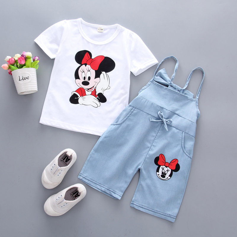 1-6Y kids Girls clothes Summer Toddler Girl Clothing Set Cotton Short Sleeve Two Piece Set Cartoon Animal Print Fashion XC012 carter s 4 piece bunny snug fit cotton pjs cute rabbit print long sleeve girls clothes set toddler girls clothing set 24062023