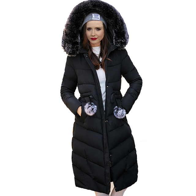 Aliexpress.com : Buy Fashion Snow Wear Large Fur Collar Ladies ...