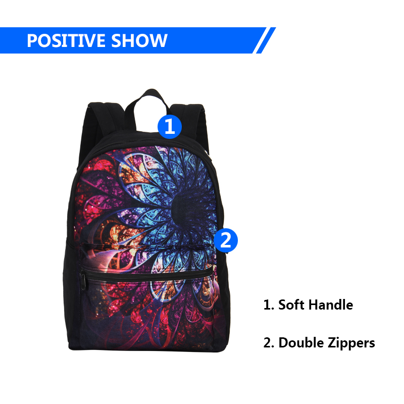 5c540fb36e61 2017 VEEVANV Brands Casual Food Hamburger Printing Backpack School Shoulder  Bags Canvas Backpacks Fashion Children Backpack Kids