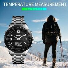 Роскошные часы для мужчин термометр компас цифровые часы калорий шагомер спортивные мужские наручные часы Модные Военные мужские часы SKMEI