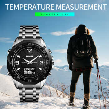Luxury Watch Men Thermometer Compass Digital Clock Calorie Pedometer Sport Mans Wristwatch Fashion Military Men's Watches SKMEI - DISCOUNT ITEM  40 OFF All Category