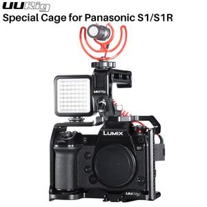 Image 2 - Uurig C S1 Khung Máy Ảnh Cho Panasonic S1/S1R Lumix S1R S1 Bảo Vệ Nhà Ở Video Vlog Lồng Giày Lạnh Núi 1/4 3/8 Arca