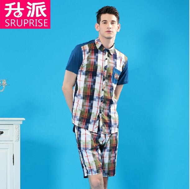 High Quality Pijama Masculino Cotton Pajama Sets Cotton Pajamas Men Plaid Sleepwear Pijama Men Sleepwear Pyjamas Men's Pajamas