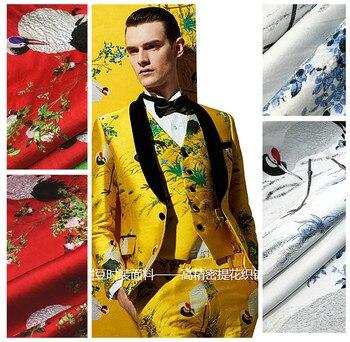 Location jacquard fabric meter 145cm crisp fashion dress jacket diy polyester fabric wholesale jacquard polyester cloth