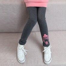 Teenage Girls Leggings Cartoon Warm Pants For Girls Clothing Children Trousers 3 5 7 9 11 12 Years 2017 New Kids Winter Legging