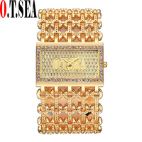 Fashion Rhinestone Watches Women Ladies Crystal Dress Quartz Wristwatches Relogios Feminino O T SEA Brand 2147