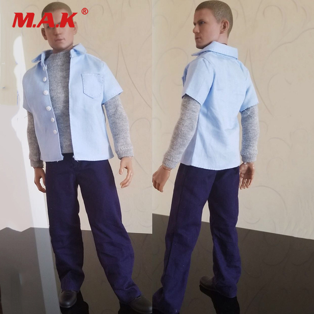 c6c273c0b2d02 1/6 Male Figure Clothes Accessory Jailbreak Male Protagonist Clothing  Prisoners Clothes Prison Uniform Set for 1:6 Man Figure