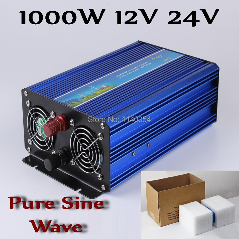 1000W Off Grid Inverter DC12V or 24V to AC100/110/120VAC or 220/230/240V Pure Sine Wave Output Solar Wind Inverter 1000W 24V 12V 300w off grid inverter pure sine wave inverter for solar and wind 12v 24v dc to 100 110 120 220 230 240v ac