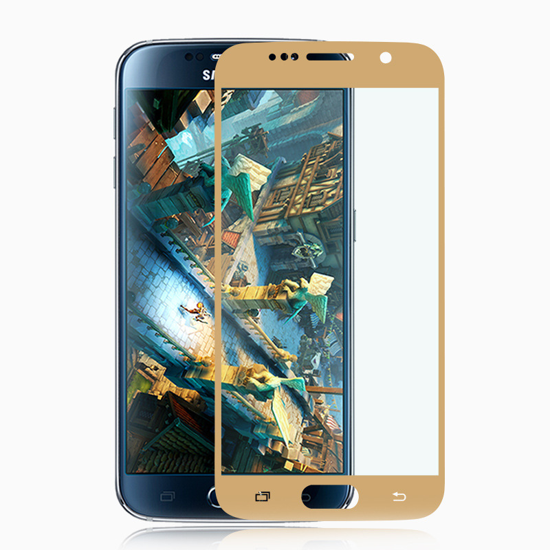 For Samsung Galaxy S6 Full Cover tempered glass screen protector all coverage safety Protective Glass Film On S5 S4 S 4 5 6