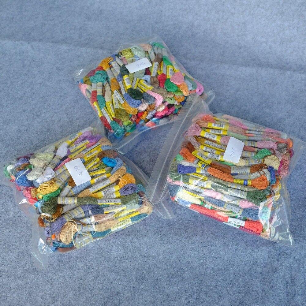 Full Range 454 DMC Colors Cotton Floss Cross Stitch Embroidery Thread 6 Strands Double Mercerized Singed Egyptian Long Fibre
