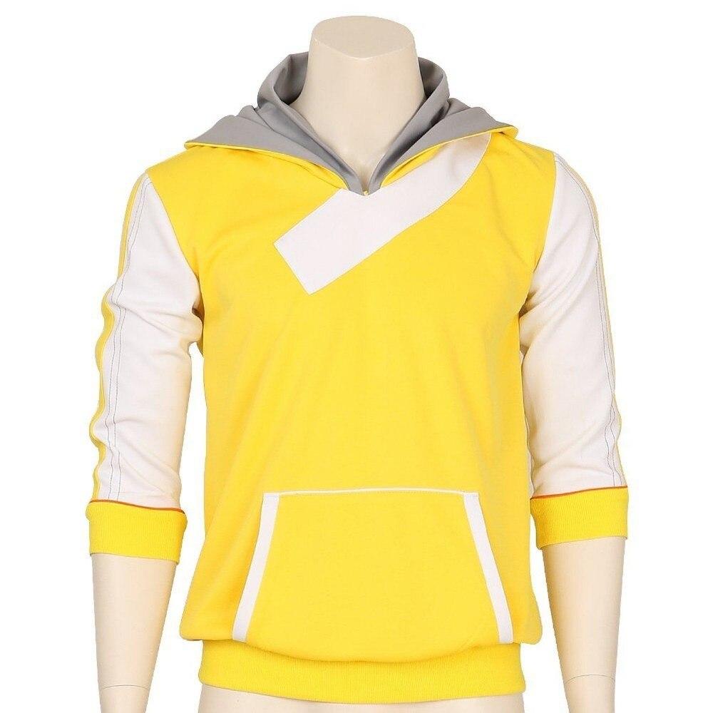 POKEMON Male Pikachu All-over Full Length Zipper Hoodie Medium Black//Yellow