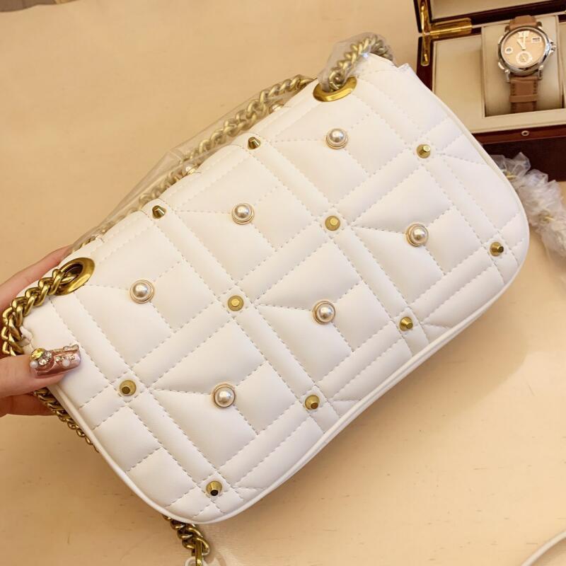 2019 new luxury belt beads ladies diagonal bag famous design popular brand logo fashion shoulder bag / free shippingping