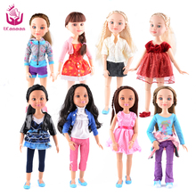 NEW 8 Models 18″ Blonde/Brown Hair 45cm Girl Doll Realistic Baby Toys Birthday Gift  for Girls As American Girl Dolls Christmas