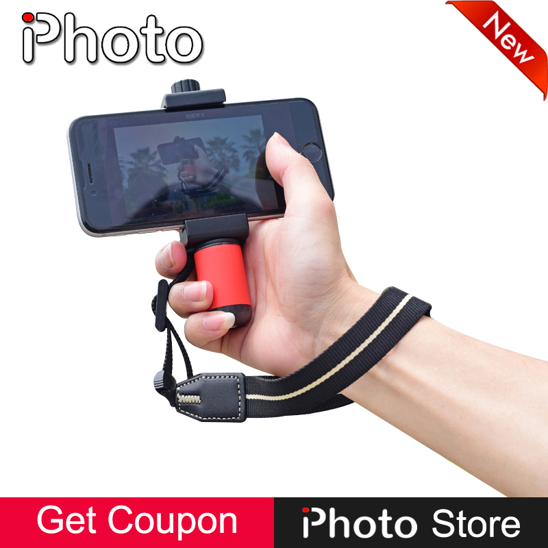 Handheld Smart Grip Stabilizer Cell Phone Stand Clip Bracket Mount Tripod Monopod for iPhone Samsung Huawei Smartphone