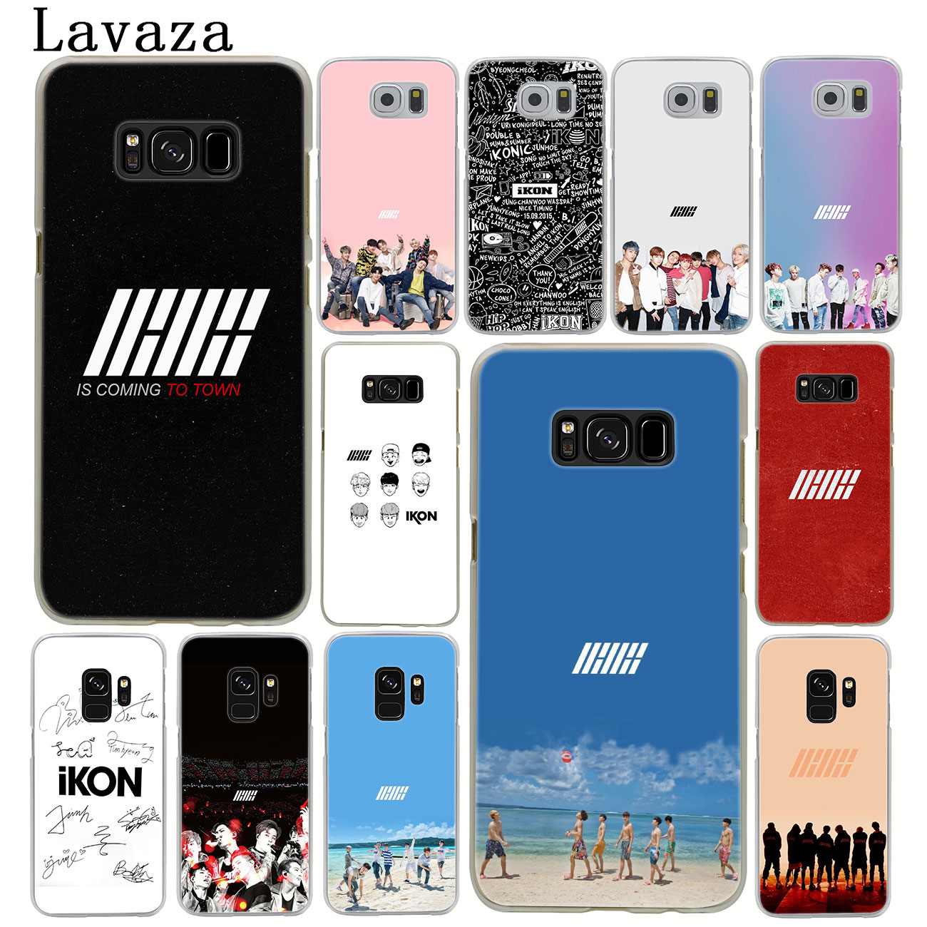 US $1 27 33% OFF|Lavaza ikon kpop music Hard Phone Case for Samsung Galaxy  S10 S10E S8 Plus S6 S7 Edge S9 Plus Cover-in Half-wrapped Cases from