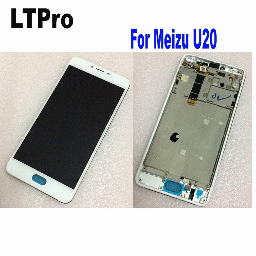 LTPro Haute Qualité Testé LCD Affichage à L'écran Tactile Digitizer Assemblée avec cadre Pour Meizu U20 Téléphone Pièces De Rechange