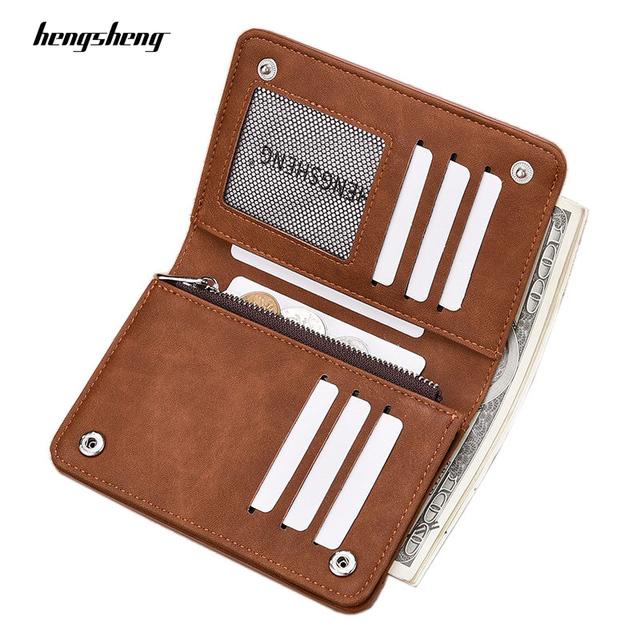 Short Nubuck Leather Wallet