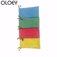 OLOEY 50 PCS Waterproof Leather Plastic Sunglasses Bag Soft Glasses Bag Glasses Case Multi color Mixed 18 * 9CM 4 colors