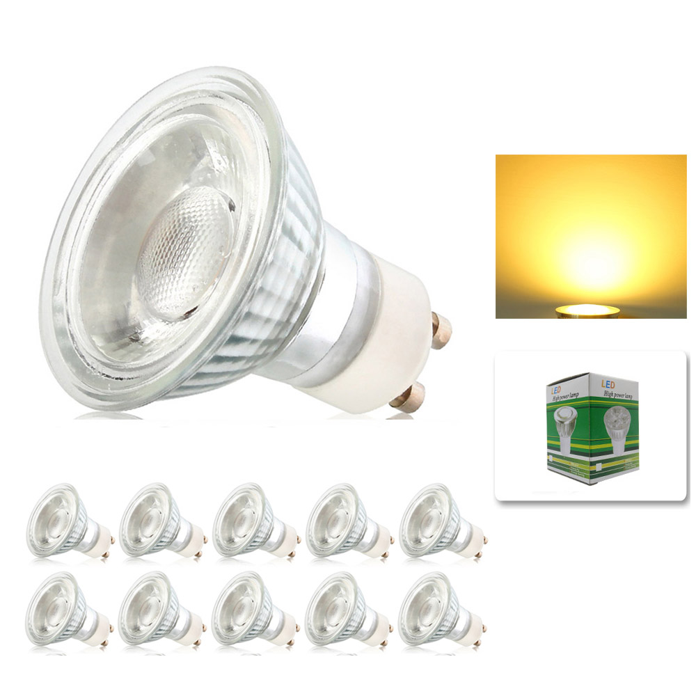 10x Dimmable 10w Gu10 Cob Led Energy Bulbs Spot Light Lamp With Beautiful Warm Cold White Colour Ac195 240v In S From Lights Lighting On