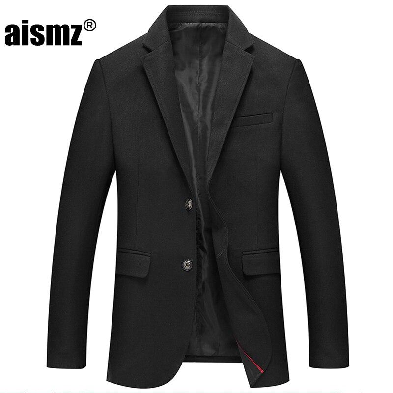 Aismz vetement homme 2019 Winter High quality Business casual blazer men casaco masculino slim fit Woolen Suits Jacket coats